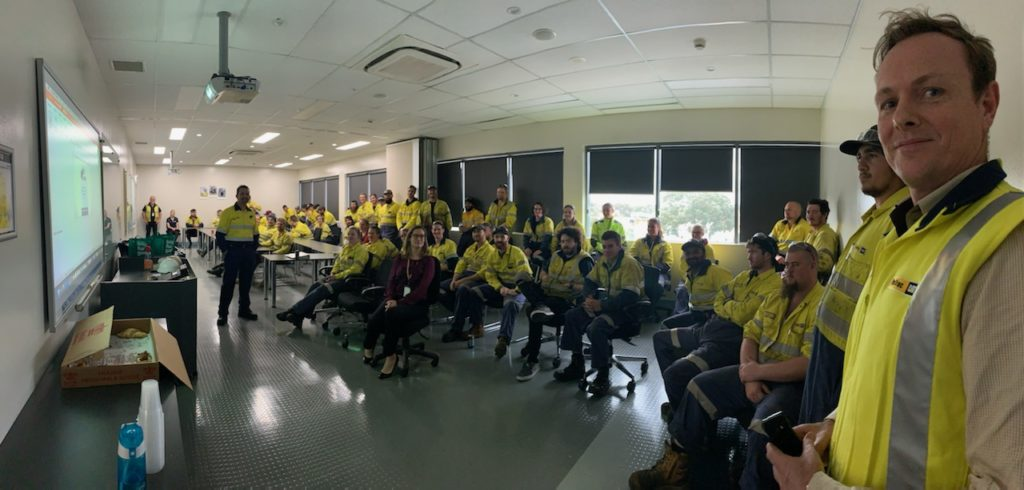 WesTrac Apprentices Mental Health Awareness Day, South Guildford WA.