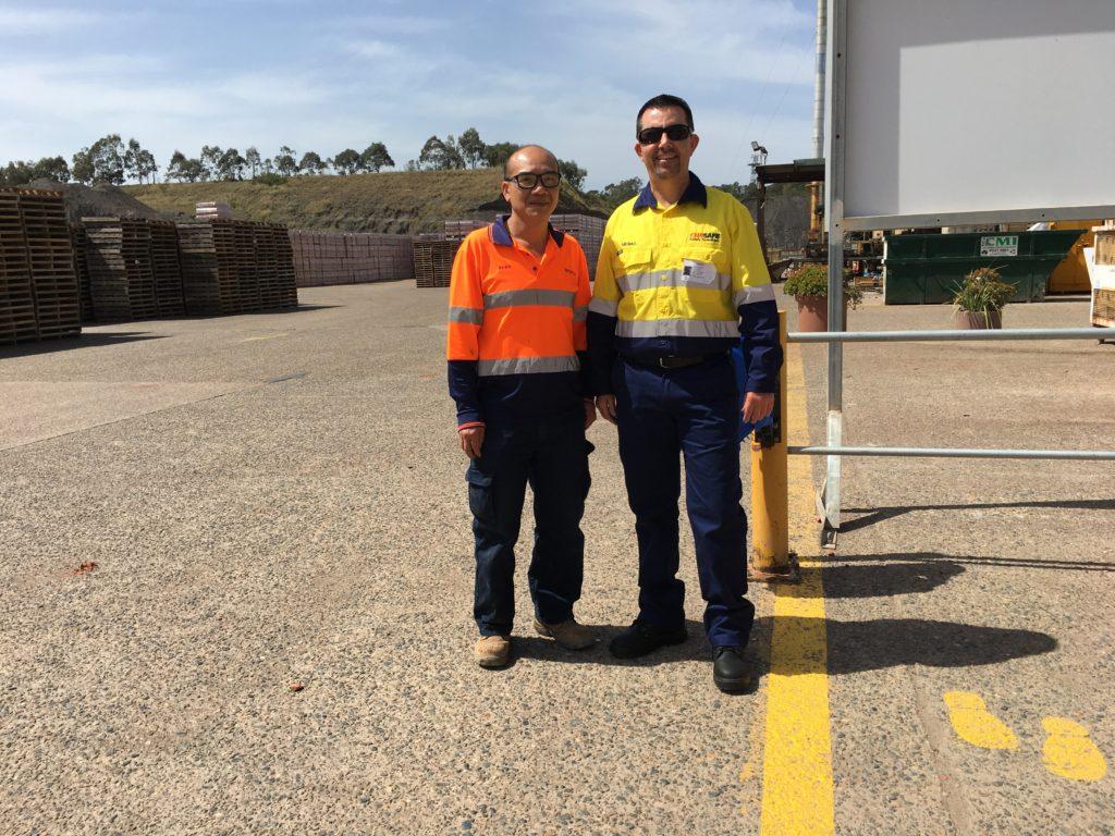 Khanh Nguyen & myself, PGH Bricks & Pavers, Cecil Park NSW
