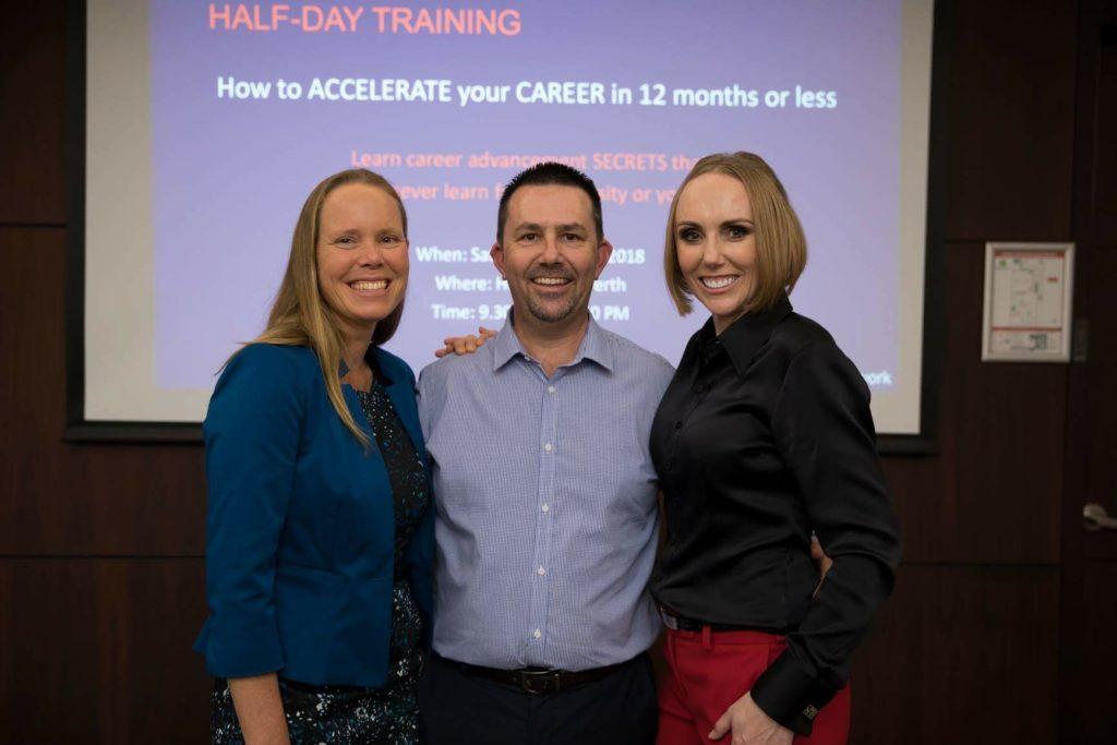 Julie Shuttleworth (Deputy CEO FMG), myself & Katie-Jeyn Romeyn (Ambitious Leaders Network)