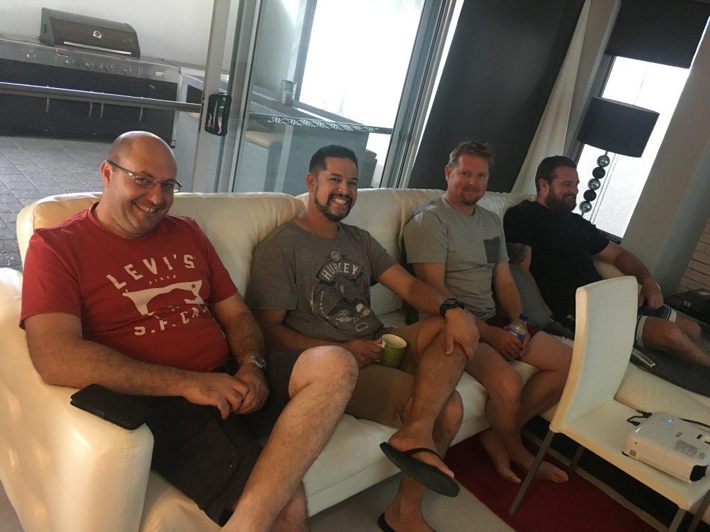Rio Tinto Cape Lambert Operations Superintendents Lathan Bartlett, Mick Loveday, Bradley Goes & Steve Tavani