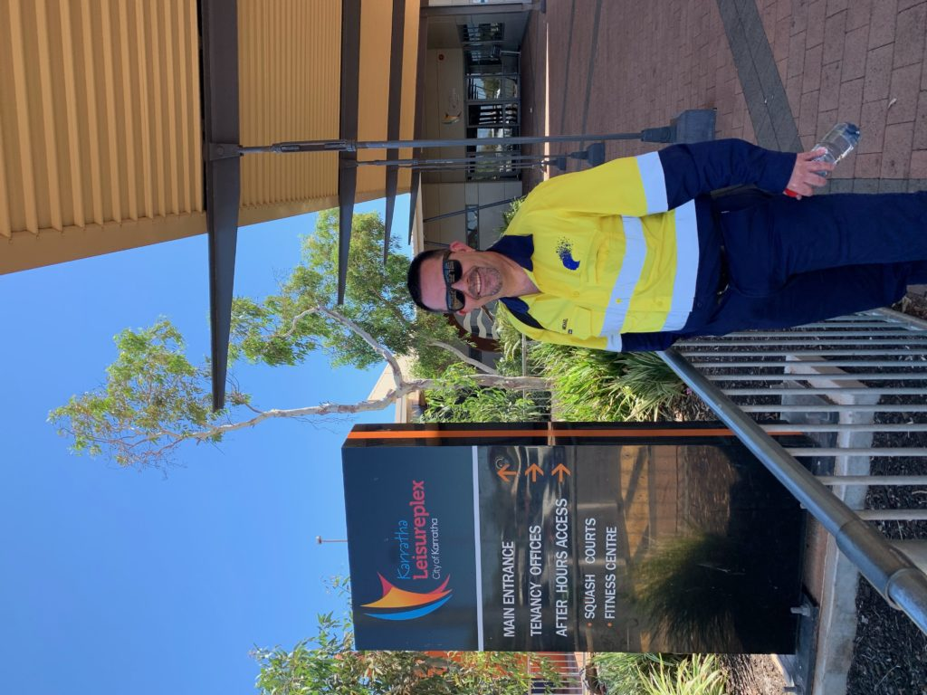 Arriving in Karratha WA for Rio Tinto Peer Support Officers Day