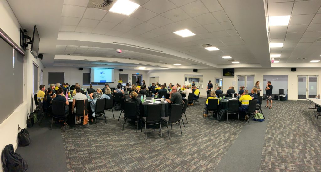 A great turn out for Rio Tinto Peer Support Officer Day in Karratha WA.