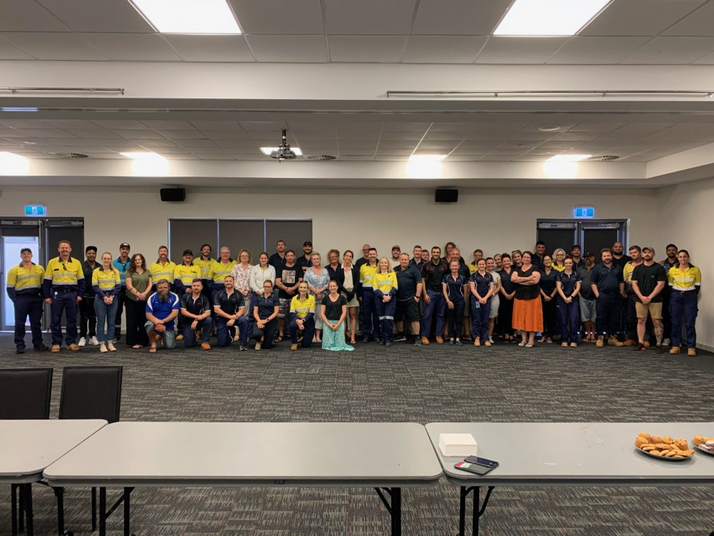 Rio Tinto Peer Support Officers Day in Karratha WA