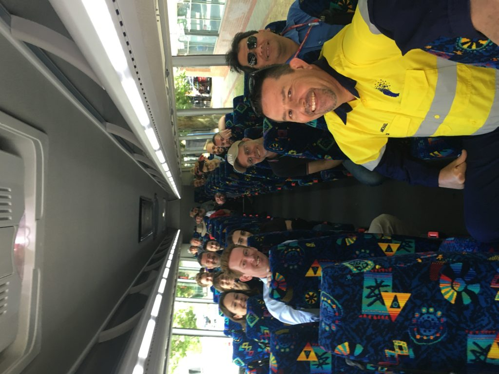 On the Bus with some of the Public Transport Authority (PTA) team members following my Mental Health talks.