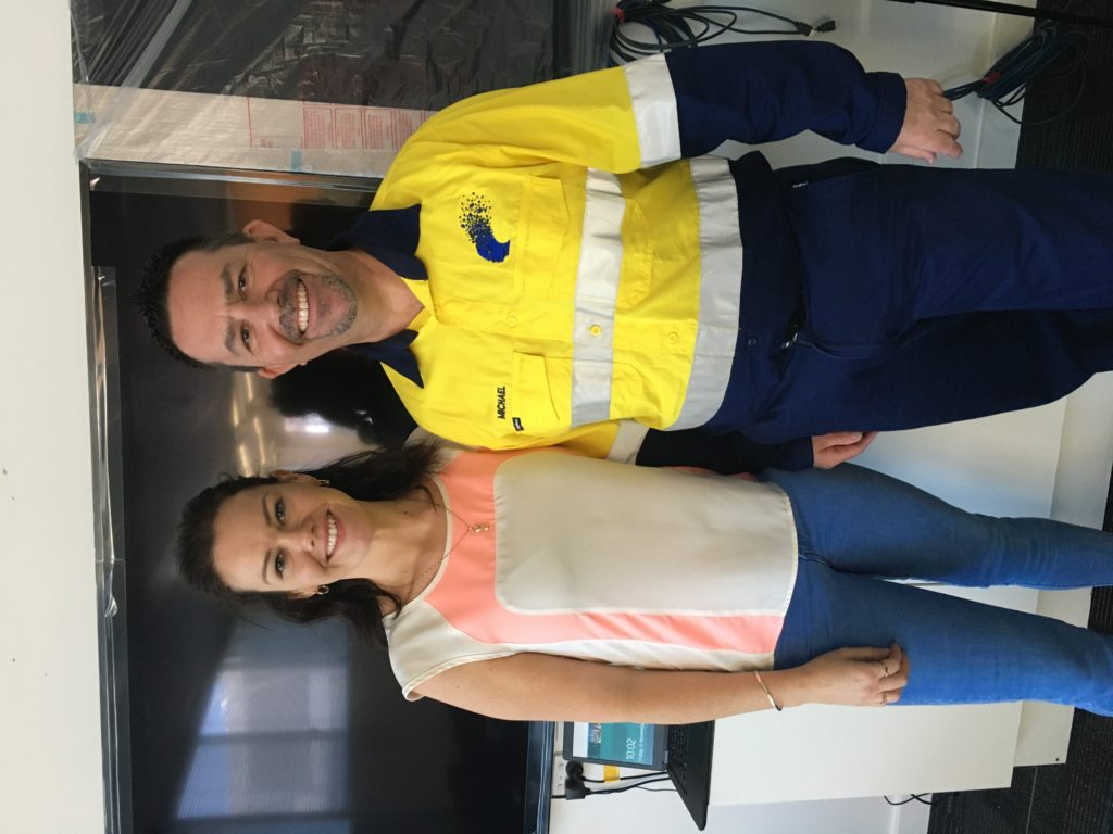 Melissa Murphy (PTA) and I at their East Perth Offices / Station.